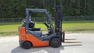 2016 Toyota 8fgcu30 Forklift Truck Lps Rated 4 way Aux Hosing Side Shift