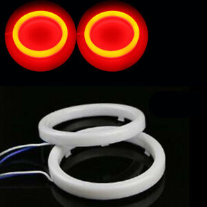 80mm Red Cob Angel Eyes Halo Ring Motorcycle Car Led Daytime Running Light