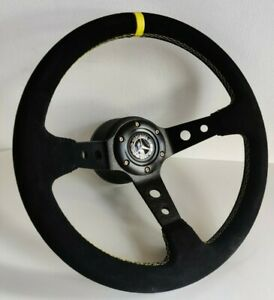 Steering Wheel Fits Mercedes Benz Deep Suede Leather Alcantara W123 W124 W201