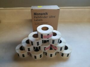 10 Rolls Avery Monarch Pathfinder Ultra Labels 402 235 Yellow