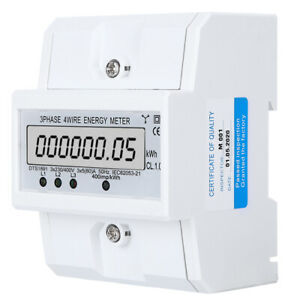 Energy Meter 3phase Lcd Digital Display Dts1891 Smart Home Electric Measurement