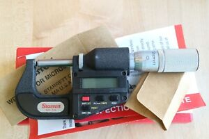 Starrett Digital Outside Micrometer 0 1 0 00005 Round Anvil Flat Spindle