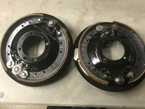 Model A Ford Backing Plates And Brake Shoes With Emergency Brake Rebuilt Set