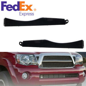 2 X Car Front Bumper Headlight Plastic Filler Decoration Parts For Toyota Tacoma
