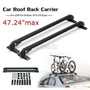 3 28 Feet Universal 4dr Car Roof Rack Cross Bars Luggage Carrier W Rubber Gasket