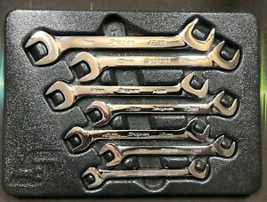 Snap On Vsm807b 7 piece Metric Four way Angle Head Open end Wrench Set Usa