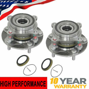 Set Of Front Wheel Hub Bearing Assembly For 4wd 2008 18 Toyota Sequoia Tundra