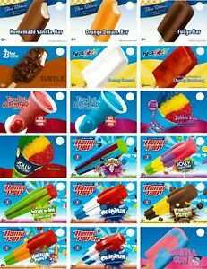Any 20 Your Choice Of Ice Cream Truck Decal Sticker Blue Bunny Rich s Gh