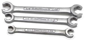 3 Craftsman Offset Dual Flare Nut Line Wrench 3 8 11 16 44173 Made In Usa Used