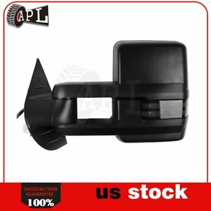 Power Heated Turn Signal Puddle Light Tow Mirrors For 2007 2013 Chevy Gmc