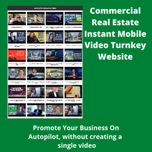 Commercial Real Estate Instant Mobile Video Turnkey Website For Affiliate Sales