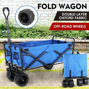 Heavy Duty Collapsible Outdoor Utility Wagon Folding Portable Hand Cart Sport Us