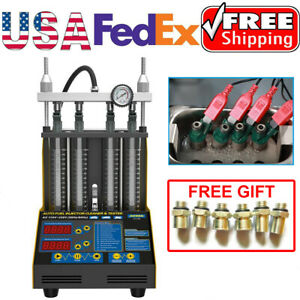 Ct150 Car Motorcycle Fuel Injector Tester Cleaner Cleaning Machine 4 Cylinder Us
