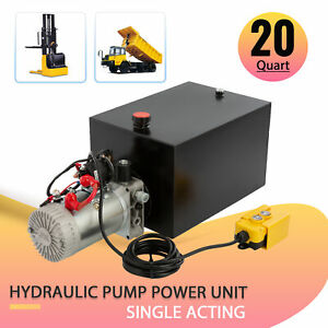 5 3 Gallon Single acting Hydraulic Pump 12v For Wood Splitter Dump Bed Tow Plow