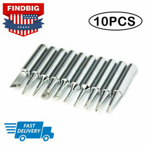 10pcs Set 900m t Solder Screwdriver Iron Tip For Hakko Soldering Station Tool