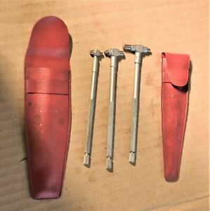 Vintage Mitutoyo Inside Small Hole Spring Loaded Gage A b c Set