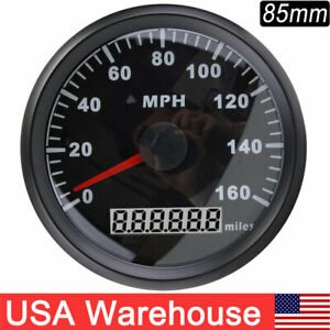 85mm Black Gps Speedometer Gauge 160mph For Marine Car Truck Motorcycle Us Stock