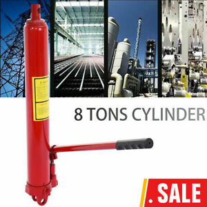8 Ton Long Manual Hydraulic Jack Stand Double Pump Engine Lift Cherry Picker Us