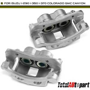 2x Brake Caliper W 2 Piston Front For Chevrolet Colorado Gmc Canyon 2004 2008