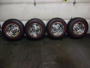 1969 1982 Chevy Corvette C3 Original Gm Az 15x8 Rally Wheels Redline Tires