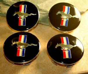 68mm Ford Mustang Pony Running Horse Wheel Rims Center Caps 2 5 Us Seller