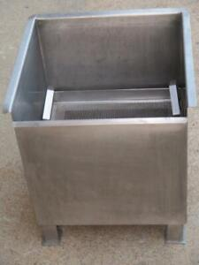 Stainless 2 Handle Basket Dipping Soaking Solution Tank Parts Cleaning Lubricant