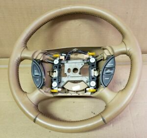1997 Ford Mustang Leather Steering Wheel With Cruise Tan