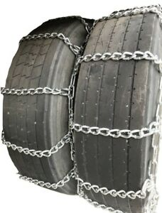 Snow Chains 9 22 5 9 22 5 Dual Tire Chains Set Of 2