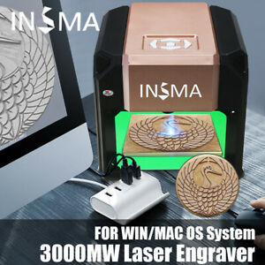 3000mw Usb 3d Laser Engraving Cutting Machine Engraver Cnc Diy Logo Printer Us