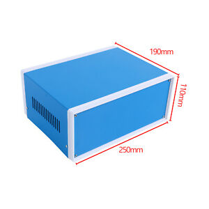 Hot Metal Enclosure Electronic Project Diy Junction Box 250mmx190mmx110mm Usa