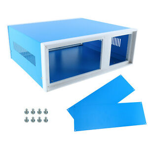 12 2 x11 2 x4 3 blue Metal Enclosure Project Case Diy Box Metal Plastic Material