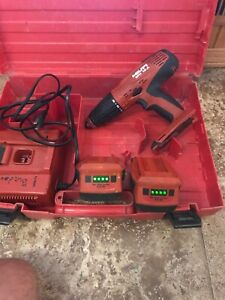 Hilti Sfh 18 a W 2 Batteries And Charger 18v Hammer Drill