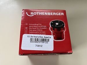 Rothenberger Pipe Threader Die Head 1 2 Supercut pre owned Used Once