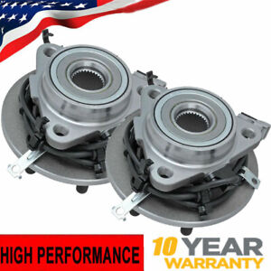 4wd Dodge Durango Dakota 2 Front Driver And Passenger Wheel Bearing Hub W abs
