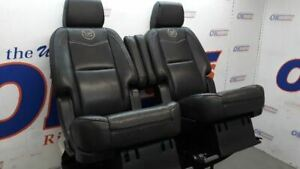 2013 Cadillac Escalade Platinum Rear Seat Middle Second Row Black Leather Bucket