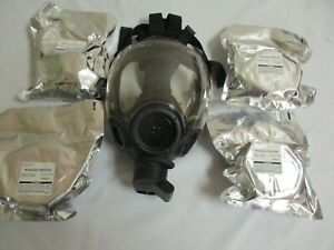 Msa Millennium Cbrn Full Face Respirator gas Mask With 4 filters Cartridges