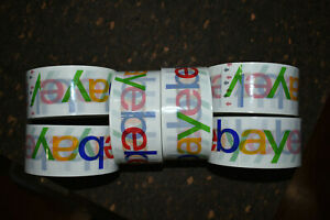 6 Rolls Of Official Ebay Branded Tape Packing Shipping Supplies 75 X 2