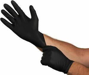 Nitrile Gloves Non Sterile 6 Mil Heavy duty Large Black Powder free Box Of 100ct