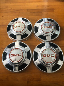 Set Of 4 Vintage Gmc Hubcaps 73 87 Dog Dish Gmc 10 Pick Up Truck 12 1 4