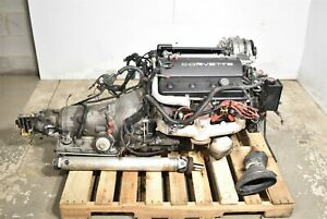1994 Corvette C4 Lt1 Engine 5 7 With Automatic Transmission Drop Out 123k Aa6623