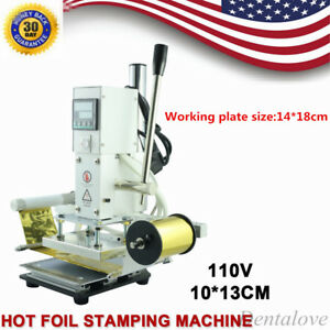 10 13cm Hot Foil Stamping Machine Mechanical Leather Pu Pvc Bronzing Embossing