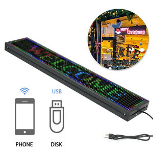 40 x8 Full Color P10 Led Sign Scrolling Message Display Business Signs Program
