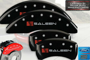 2015 2020 Ford Mustang Gt 6 Pist Front Rear Black Mgp Brake Caliper Cover Saleen