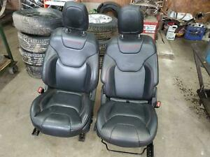 Jeep Cherokee 2 Front Seats Air Bags Bucket Leather Red Stitch Electric