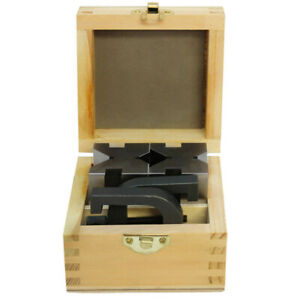 1 5 8 X 1 3 4 X 2 3 4 Hardened And Ground Steel V Block And Clamp Set