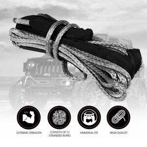 X bull Dyneema Synthetic Winch Rope 3 8 X 100ft 23 809 Lbs 4wd Cable No Hook