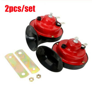 2pcs 120db Super Train Horn For Trucks Suv Car Boat Motorcycles 12v Electric