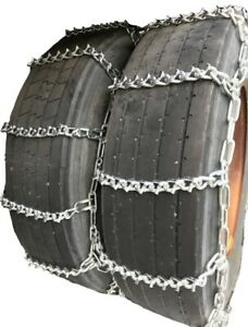 Snow Chains 12 22 5 12 22 5 Dual Tire Chains Set Of 2