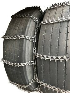Snow Chains 295 75r22 5 295 75r22 5 Studded Dual Tire Chains Set Of 2