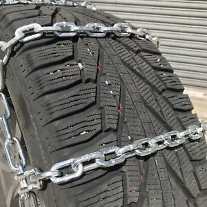 Snow Chains 255 55r18 255 55 18 Square Tire Chains W Spider Tensioners